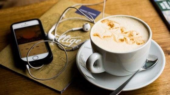 podcast en koffie